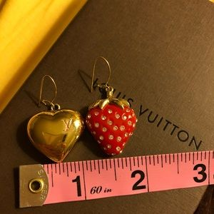 Authentic Louis Vuitton Strawberry 🍓💛 Earrings